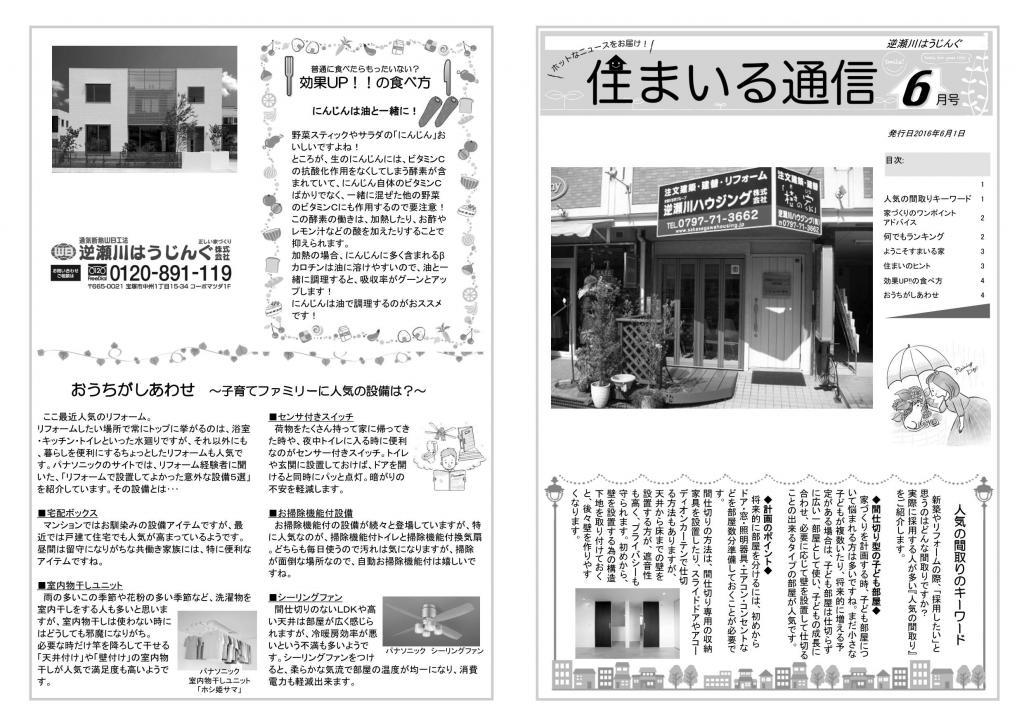 逆瀬川はうじんぐ ニュースレター2016年6月号 1