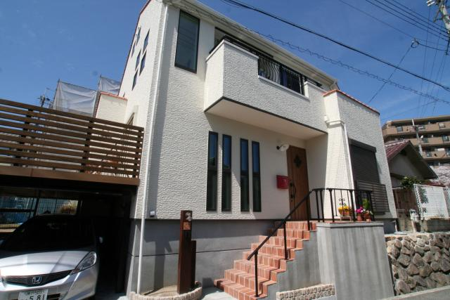 フレンチックなかわいいお家 2|宝塚市の逆瀬川はうじんぐ施工事例
